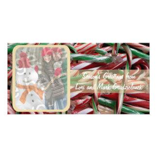 Carte de vacances de photo de sucres de canne photocarte customisée