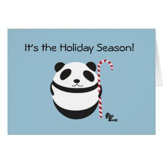 Carte de vacances de sucre de canne de panda