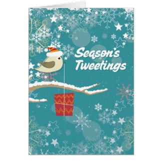 Carte de vacances de Tweetings de la saison