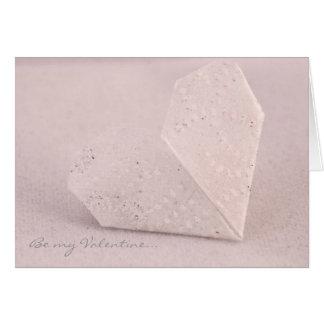 Carte de Valentine, coeur d'origami