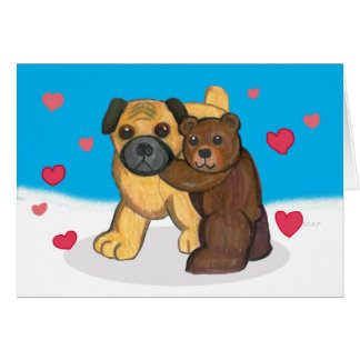 Carte de Valentine de carlin et de nounours