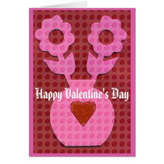 CARTE de VALENTINE, heureuse Sainte-Valentin