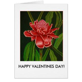 Carte de Valentines de gingembre de torche