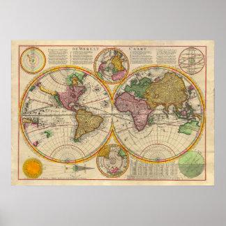 Carte de Vieux Monde antique
