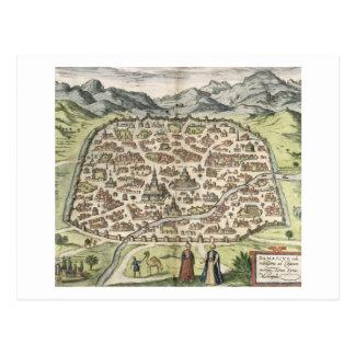 Carte de ville de Damas, Syrie, 1620 (gravure)