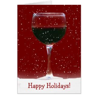 Carte de vin rouge bonnes fêtes