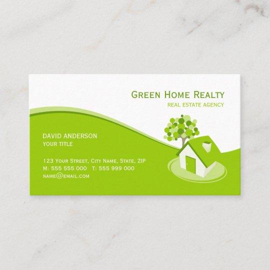 Carte De Visite A La Maison Vert Dassurance