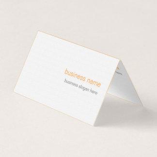 Carte De Visite Arrière - plan orange simple moderne élégant