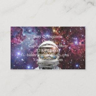 Carte De Visite Astronaute Chat