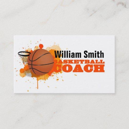 Carte De Visite Basketball Coach