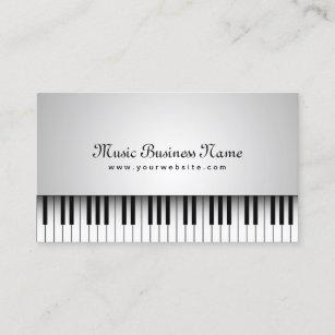 Carte De Visite Beau Piano Queue Blanc Musique