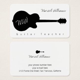 carte de visite blanc de musique avec un noir.