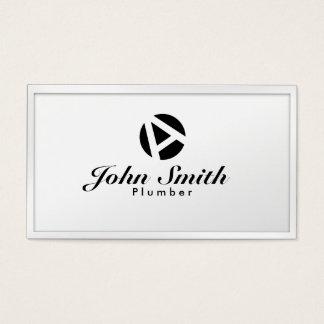 Carte de visite blanc de plombier de monogramme de