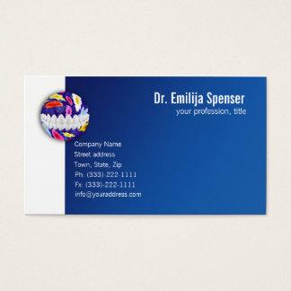 Carte de visite blanc fleuri de dentiste de