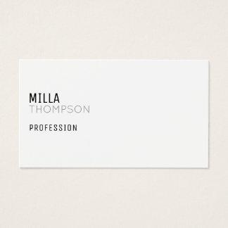 carte de visite blanc minimaliste pour toute