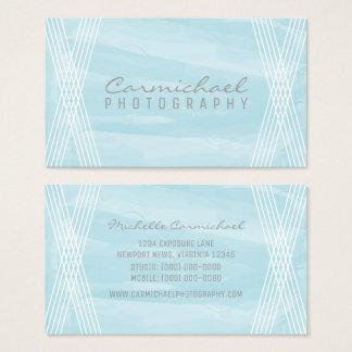 Carte de visite bleu-clair de Deco d'aquarelle