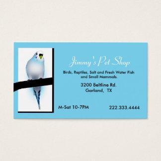 Carte de visite bleu de magasin d'animal familier