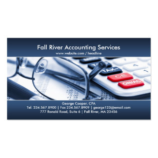 Carte de visite bleu élégant de comptabilité