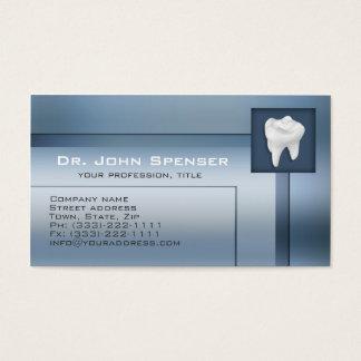 Carte de visite bleu en métal d'orthodontiste