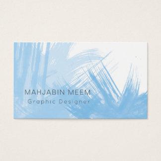 Carte de visite bleu moderne d'aquarelle