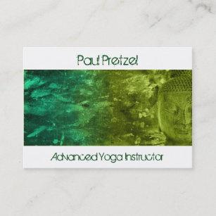 Carte De Visite Bouddha En Vert Et Turquoise
