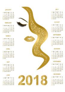 Carte De Visite Calendrier 2018 Maquilleur