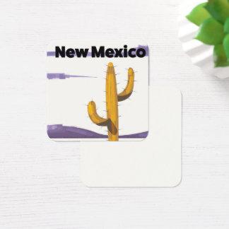 Carte De Visite Carré Affiche vintage de vacances de style de cactus du