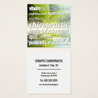 Carte De Visite Carré Avantages de chiroprakteur de collage de mot de