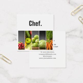 Carte De Visite Carré Chef élégant professionnel de nutritionniste de