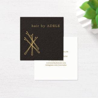 Carte De Visite Carré Coiffeur élégant minimaliste moderne
