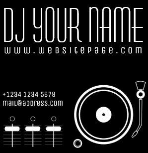 Carte De Visite Carre Couverture Musicale Reglee Modele Du DJ