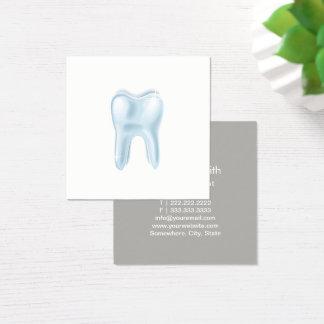 Carte De Visite Carré Dentiste dentaire de minimaliste de la dent 3D