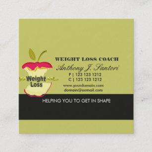 Carte De Visite Carre Dieteticien Dentraineur Perte Poids