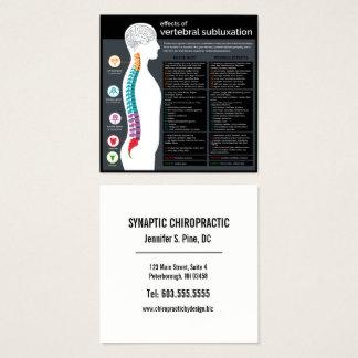 Carte De Visite Carré Effets de chiroprakteur vertébral de subluxation