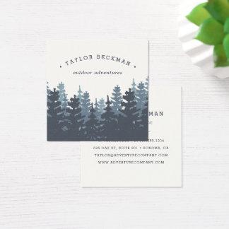 Carte De Visite Carré Forêt d'hiver