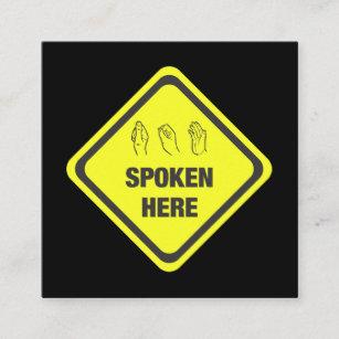 Carte De Visite Carr Interprte Langue Des Signes Amricaine