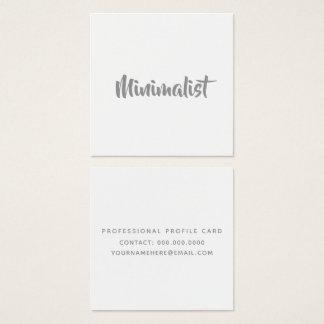 Carte De Visite Carré manuscrit gris frais élégant minimaliste sur le
