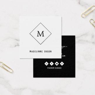 Carte De Visite Carré Monogramme minimaliste