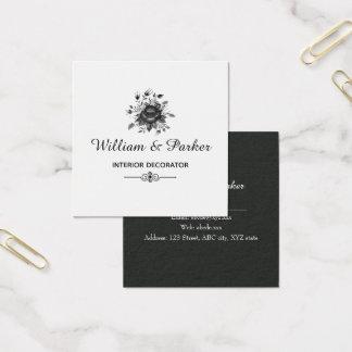 Carte De Visite Carré Or et nuances élégants de gris