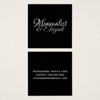Carte De Visite Carré Style de police minimaliste et élégant de