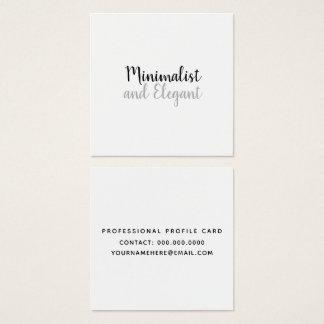 Carte De Visite Carré Style minimaliste et élégant de manuscrit de b/w