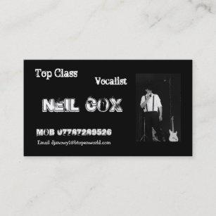 Carte De Visite Chanteur Neil Cox