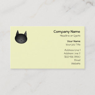 Carte De Visite Chat Kitty Noir Adorable