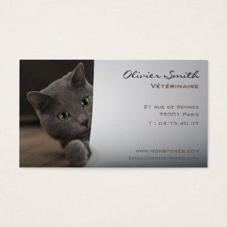 Carte de visite chat, vétérinaire