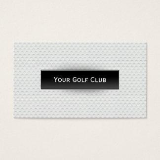 Carte de visite chic de golf de texture de boule