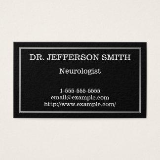 Carte de visite chic et minimal de neurologue