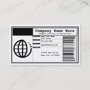 Carte De Visite Code Barres Daffaires