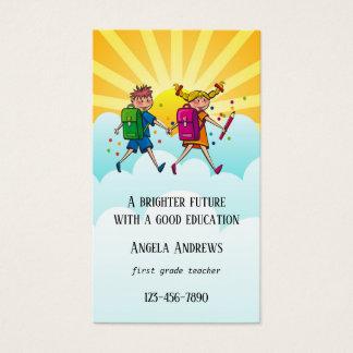 Carte de visite coloré mignon de professeur