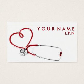 Carte de visite compatissant d'infirmière