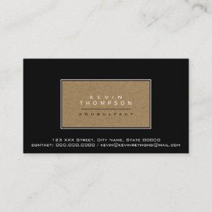 Carte De Visite Concevez Votre Propre Norme Noire Elegante